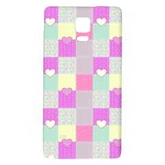 Old Quilt Galaxy Note 4 Back Case by Valentinaart