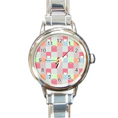 Patchwork Round Italian Charm Watch by Valentinaart