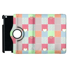 Patchwork Apple Ipad 3/4 Flip 360 Case by Valentinaart