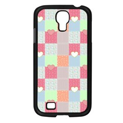 Patchwork Samsung Galaxy S4 I9500/ I9505 Case (black) by Valentinaart