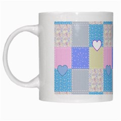 Patchwork White Mugs by Valentinaart