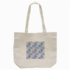 Patchwork Tote Bag (cream) by Valentinaart