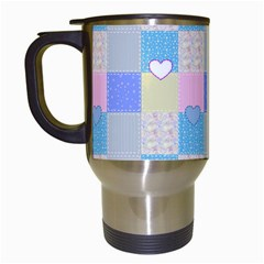 Patchwork Travel Mugs (white) by Valentinaart
