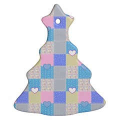 Patchwork Ornament (christmas Tree)  by Valentinaart