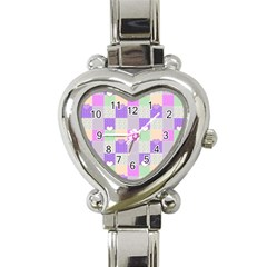 Patchwork Heart Italian Charm Watch by Valentinaart