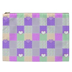 Patchwork Cosmetic Bag (xxl)  by Valentinaart