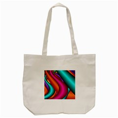 Fractal Wallpaper Color Pipes Tote Bag (cream)