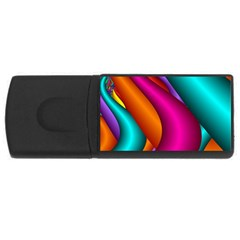 Fractal Wallpaper Color Pipes Usb Flash Drive Rectangular (4 Gb) by Amaryn4rt