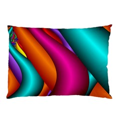 Fractal Wallpaper Color Pipes Pillow Case by Amaryn4rt