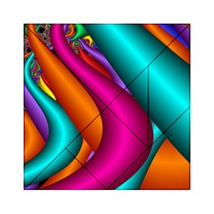 Fractal Wallpaper Color Pipes Acrylic Tangram Puzzle (6  X 6 ) by Amaryn4rt