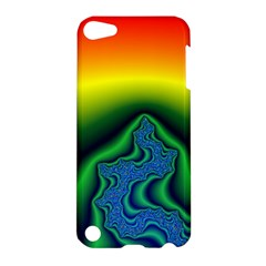 Fractal Wallpaper Water And Fire Apple Ipod Touch 5 Hardshell Case by Amaryn4rt