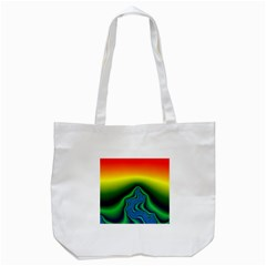 Fractal Wallpaper Water And Fire Tote Bag (white) by Amaryn4rt