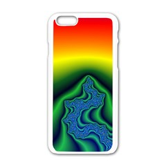 Fractal Wallpaper Water And Fire Apple Iphone 6/6s White Enamel Case by Amaryn4rt