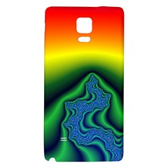 Fractal Wallpaper Water And Fire Galaxy Note 4 Back Case by Amaryn4rt