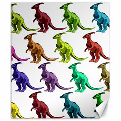 Multicolor Dinosaur Background Canvas 20  X 24   by Amaryn4rt