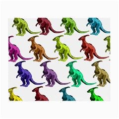 Multicolor Dinosaur Background Small Glasses Cloth (2 Side) by Amaryn4rt