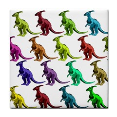 Multicolor Dinosaur Background Face Towel by Amaryn4rt