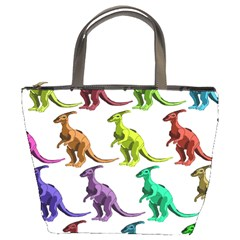 Multicolor Dinosaur Background Bucket Bags by Amaryn4rt