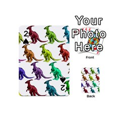 Multicolor Dinosaur Background Playing Cards 54 (mini)  by Amaryn4rt