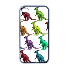 Multicolor Dinosaur Background Apple Iphone 4 Case (black) by Amaryn4rt