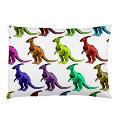 Multicolor Dinosaur Background Pillow Case (two Sides) by Amaryn4rt