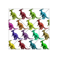 Multicolor Dinosaur Background Acrylic Tangram Puzzle (4  X 4 ) by Amaryn4rt