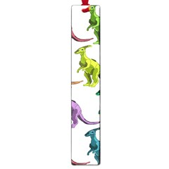 Multicolor Dinosaur Background Large Book Marks by Amaryn4rt