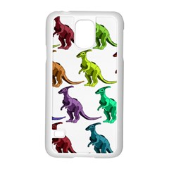 Multicolor Dinosaur Background Samsung Galaxy S5 Case (white) by Amaryn4rt