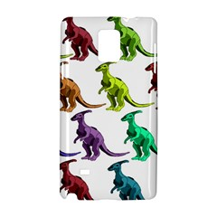 Multicolor Dinosaur Background Samsung Galaxy Note 4 Hardshell Case by Amaryn4rt