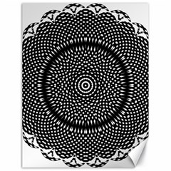 Black Lace Kaleidoscope On White Canvas 18  X 24   by Amaryn4rt