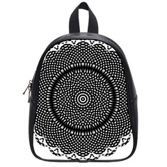 Black Lace Kaleidoscope On White School Bags (small)  by Amaryn4rt