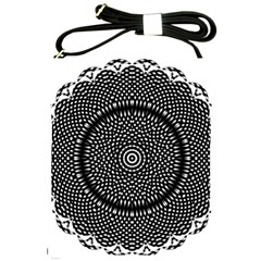 Black Lace Kaleidoscope On White Shoulder Sling Bags by Amaryn4rt