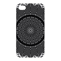 Black Lace Kaleidoscope On White Apple Iphone 4/4s Hardshell Case by Amaryn4rt