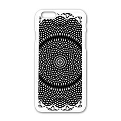 Black Lace Kaleidoscope On White Apple Iphone 6/6s White Enamel Case