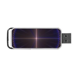 Color Fractal Symmetric Blue Circle Portable Usb Flash (two Sides) by Amaryn4rt