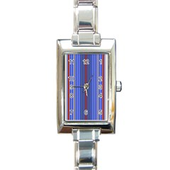 Colorful Stripes Background Rectangle Italian Charm Watch by Amaryn4rt