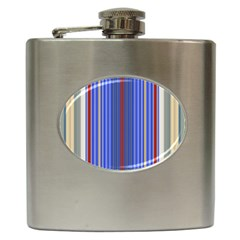 Colorful Stripes Background Hip Flask (6 Oz) by Amaryn4rt