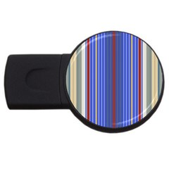 Colorful Stripes Background Usb Flash Drive Round (2 Gb) by Amaryn4rt