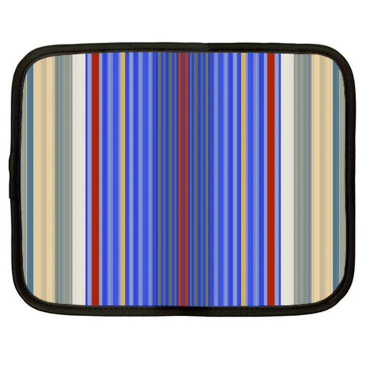 Colorful Stripes Background Netbook Case (Large)