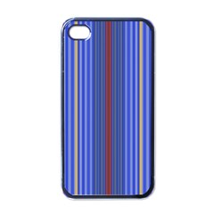Colorful Stripes Background Apple Iphone 4 Case (black) by Amaryn4rt