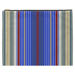 Colorful Stripes Background Cosmetic Bag (xxxl)  by Amaryn4rt