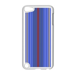 Colorful Stripes Background Apple Ipod Touch 5 Case (white) by Amaryn4rt