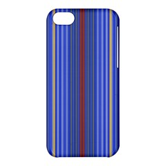 Colorful Stripes Background Apple Iphone 5c Hardshell Case by Amaryn4rt