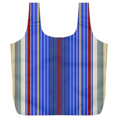 Colorful Stripes Background Full Print Recycle Bags (l)