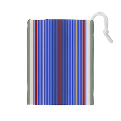 Colorful Stripes Background Drawstring Pouches (large)  by Amaryn4rt