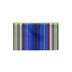 Colorful Stripes Background Cosmetic Bag (xs) by Amaryn4rt