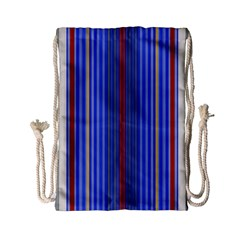 Colorful Stripes Background Drawstring Bag (small) by Amaryn4rt