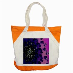 Blue Digital Fractal Accent Tote Bag by Amaryn4rt