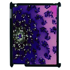 Blue Digital Fractal Apple Ipad 2 Case (black)