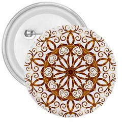 Golden Filigree Flake On White 3  Buttons by Amaryn4rt
